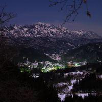 戸隠山と鬼無里の灯り, Мизусава