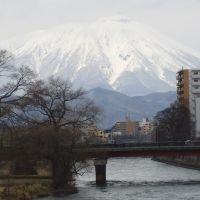 岩手山*盛岡・開運橋から, Мориока