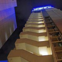 Side of Toyoko Inn at night, Morioka 盛岡, Мориока