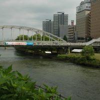 開運橋(ゴムボートレースのタイム計測ゴール。実際の終点は南大橋辺り。)(12.7.21), Мориока