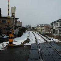 JR山田線踏切(12.12.31)JR Yamada line, Мориока