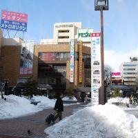 JR盛岡駅前(13.1.20)JR Morioka station, Мориока