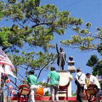 移民の父 當山久三翁像, Кага
