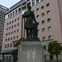 The statue of Yoshitoshi Kawaji founder of modern police of japan,Kagoshima,Japan, Изуми