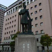 The statue of Yoshitoshi Kawaji founder of modern police of japan,Kagoshima,Japan, Кагошима