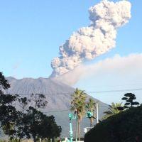 Volcanic fumes of Sakura-jima,Kagoshima, Кагошима