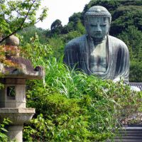 Amida Buddha, Great Buddha, Kotokuin Temple, Kamakura, Japan, Камакура