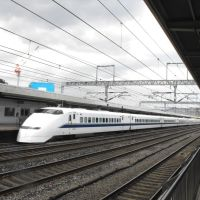 Tren Bala en la estación de Odawara. Japón., Одавара