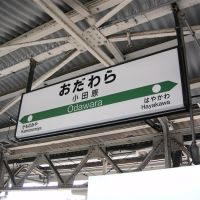JR小田原駅の駅名標 (Nameplate of JR Odawara Station), Одавара