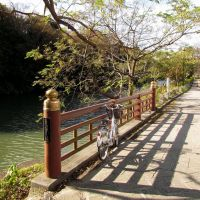京都 龜岡 龜山城址 護城河 moat,Kameoka,Kyoto,Japan, Камеока