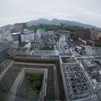 ホテル日航熊本から熊本城方向, Кумамото