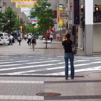 Ginza-Dori street crossing, Минамата