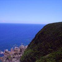 沖縄に置かれる東村の東沿岸からの太平洋。 Pacific Ocean from the east coast of Okinawa in Higashi Village., Ишиномаки