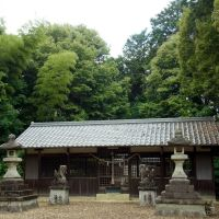 高取町市尾 天満神社の拝殿 2012.6.14, Нагано