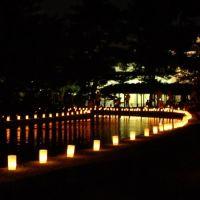 国立博物館の灯り, Нара