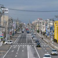 赤道十字路より平和町方向を望む, Санйо