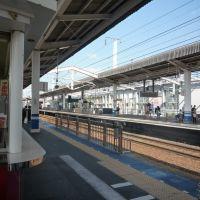 jr okayama station platform, Окэйама