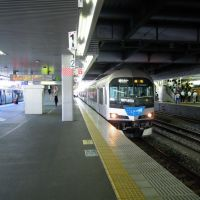 Marine Liner, JR Okayama station platform, Окэйама