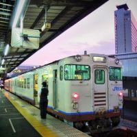 Kibi Line Okayama Sta. 岡山駅 吉備線 キハ47形, Окэйама