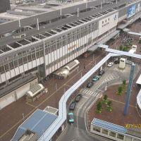 岡山駅前(ホテルグランヴィア岡山から見る), Окэйама