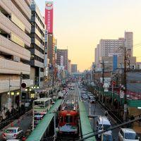 AbenoBashi 阿倍野橋 路面電車のある風景, Моригучи