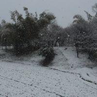 雪の私部城址, Суита