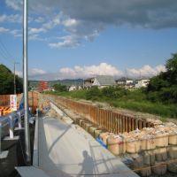 改修中の煤谷川(2010年5月), Хираката