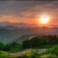 Sunset over the Northern Alps, Кавагучи