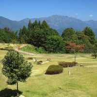 Putting golf course and Mt. Nishidake パターゴルフ場と西岳, Иаизу