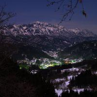 戸隠山と鬼無里の灯り, Иаизу