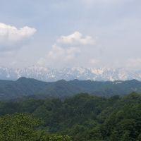 北アルプス白馬連峰、白馬三山 信州小川村より, Мишима