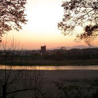 祇園城跡から見た夕日, Ояма