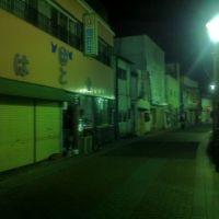 栃木県小山市の商店街の夜 A shopping street in Oyama, Tochigi pref., Ояма