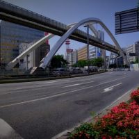 Central arch of Chiba Urban Monorail 千葉都市モノレール 栄橋横断橋 セントラルアーチ [ys-waiz.net], Ичикава