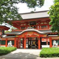 Chiba-Jinja, Sonjō-den  千葉神社 尊星殿  (2009.07.25), Фунабаши