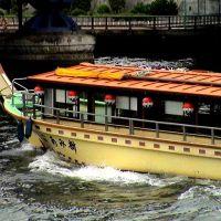 Restaurant boat on the river, Хачиойи
