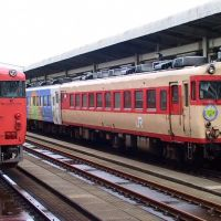 JR West Kiha 40/58 at Tottori 2002, Йонаго