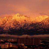 雨上がり直後の剱岳, Тояма