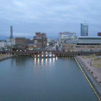ふがん運河から富山駅北側の眺望, Уозу