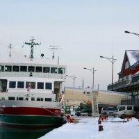 流氷砕氷船と発着場, Абашири