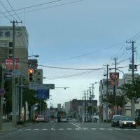 Straßenszene in Abashiri, Абашири