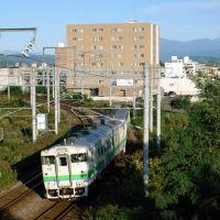 2007 高架線切替前の宗谷本線を行くキハ40系普通列車, Асахигава