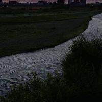 a morning scene from Hyoten-bashi Bridge over Chubetsu-gawa River, Асахигава
