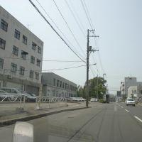 北6条通り、北見赤十字病院の正面側, Китами