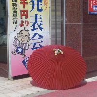 Red, japanes umbrella., Куширо