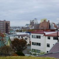 View of Nusamai-Bashi from Moshiriya-Chasi (釧路市 モシリヤチャシから幣舞橋を望む), Куширо