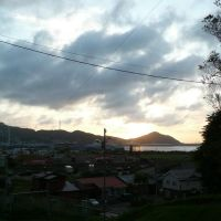 At sunset (Misaki-cho, Muroran, Hokkaido) (室蘭市御崎町の夕日), Муроран