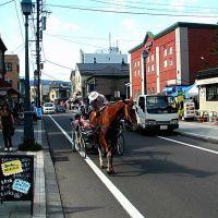 日本 北海道 小樽 堺町 可否茶館前 old town,Otaru,Hokkaido,Japan, Отару