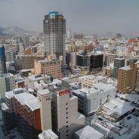 Sapporo city from Sapporo art Hotel, Саппоро