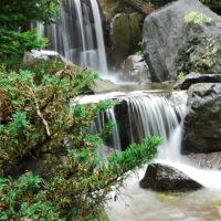 Small falls at PARK,TOMAKOMAI 苫小牧市民文化公園内の滝, Томакомаи
